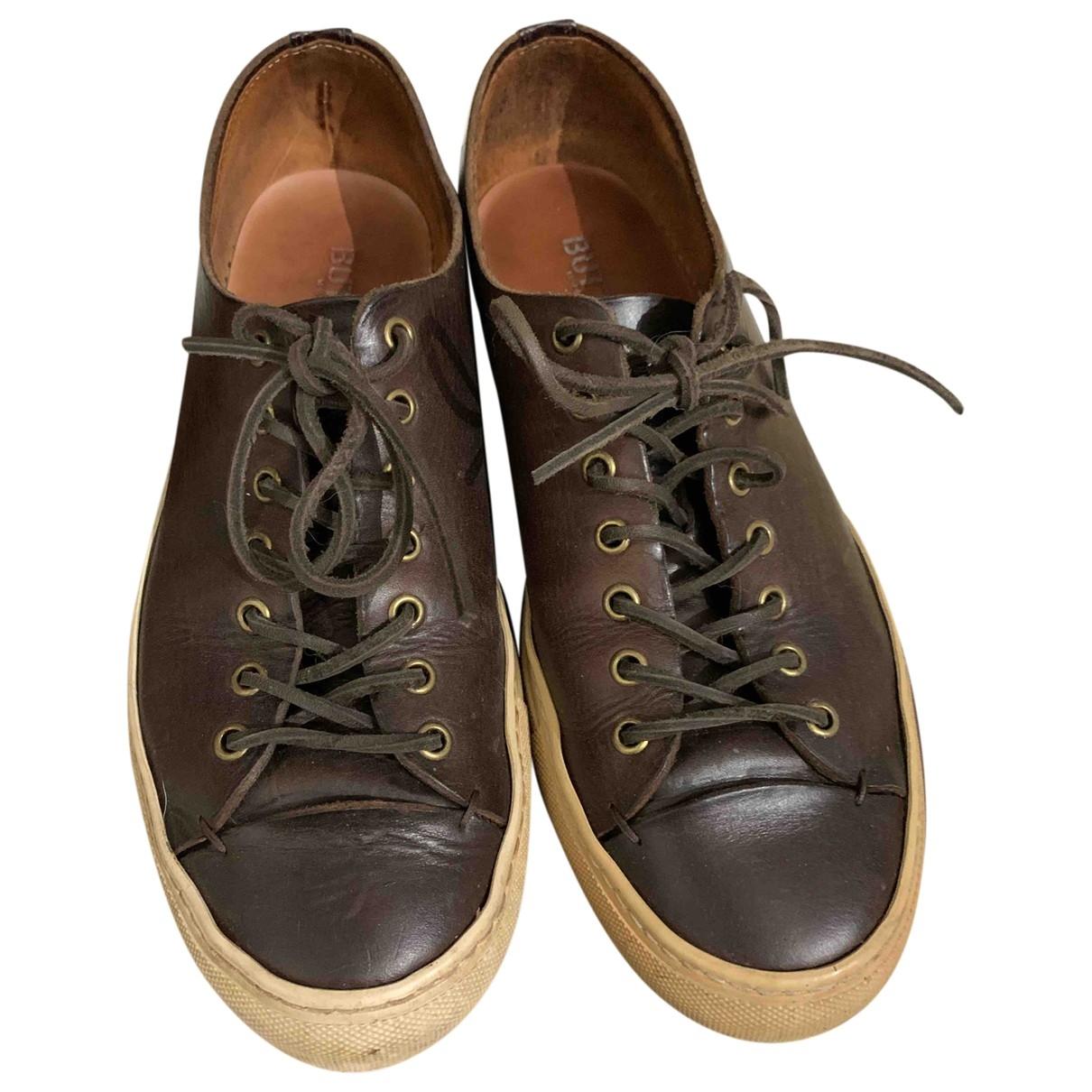Buttero \N Sneakers in  Braun Leder