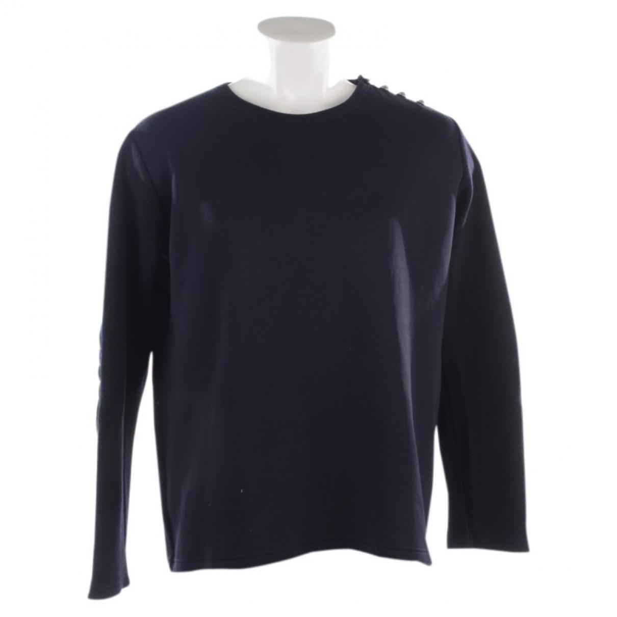 Balmain - Pull   pour femme en laine - bleu