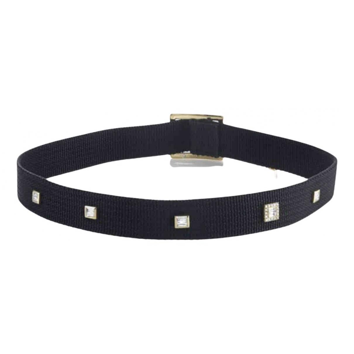 Shay Jewelry \N Kette in  Schwarz Leinen