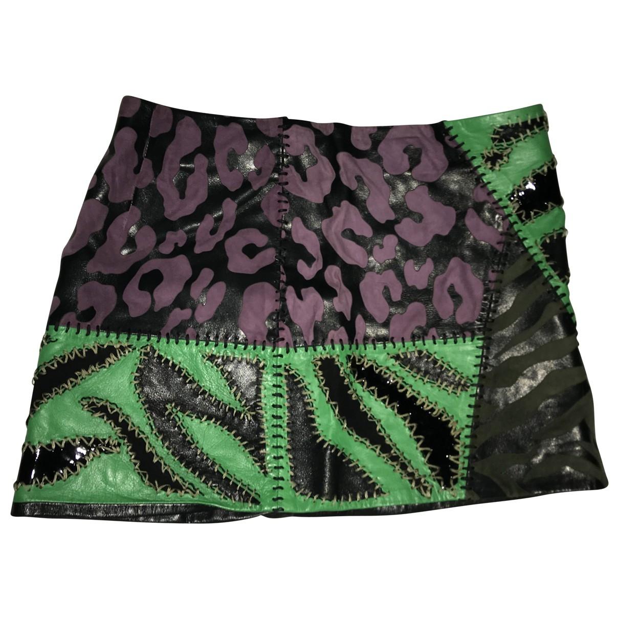 Versace \N Multicolour Leather skirt for Women 38 IT