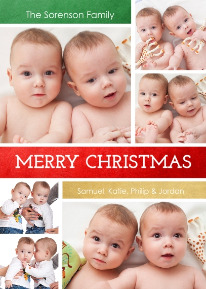 Christmas Photo Cards Flat Matte Photo Paper Cards with Envelopes, 5x7, Card & Stationery -Christmas Wishes