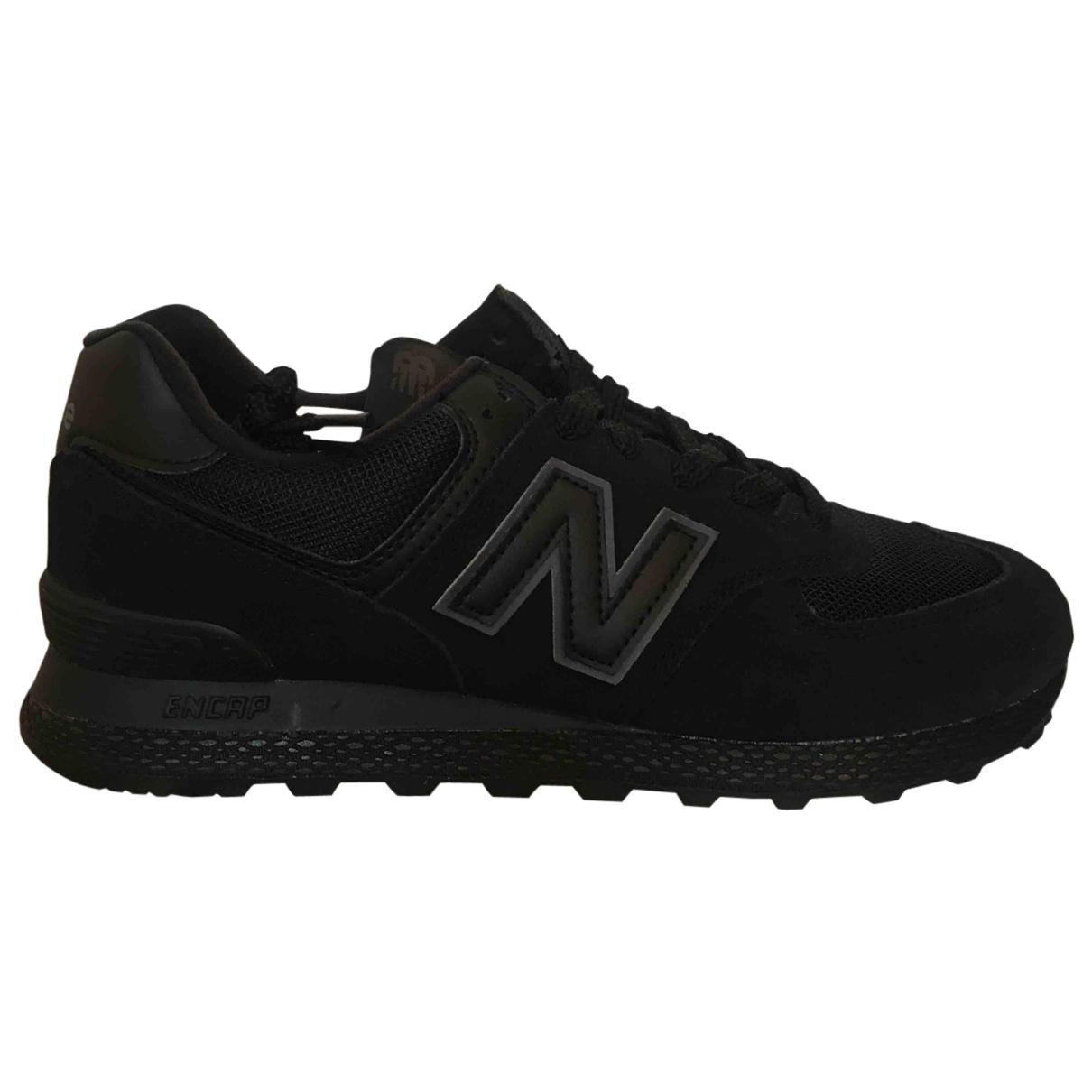 New Balance - Baskets   pour homme en suede - noir