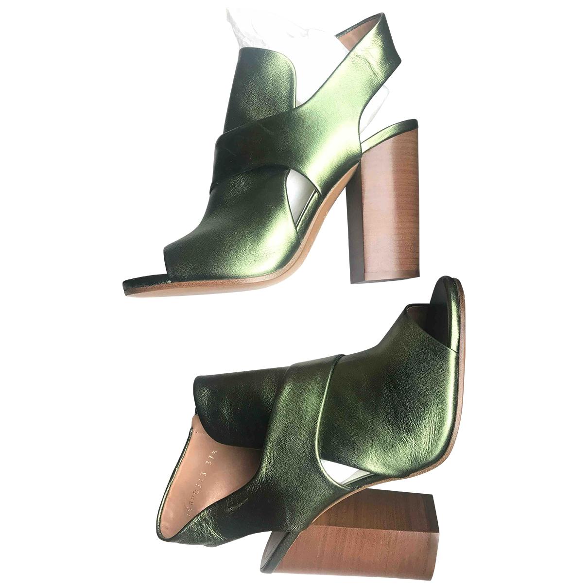 Maison Martin Margiela - Sandales   pour femme en cuir - vert