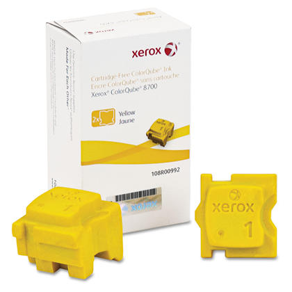 Xerox 108R00992 batons d'encre solide original jaune pour l'imprimante ColorQube 8700 2/baton