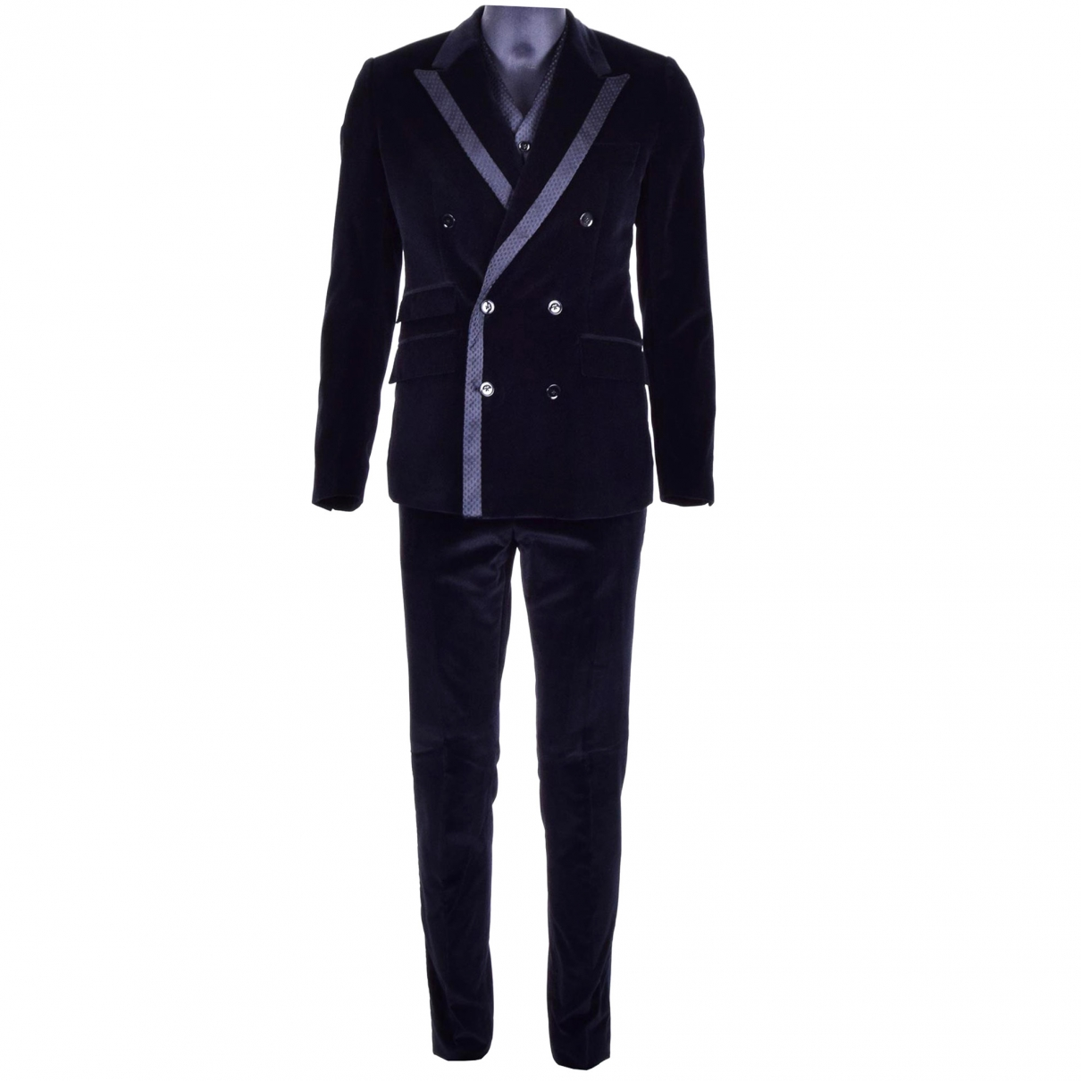Dolce & Gabbana \N Black Velvet Suits for Men 52 IT
