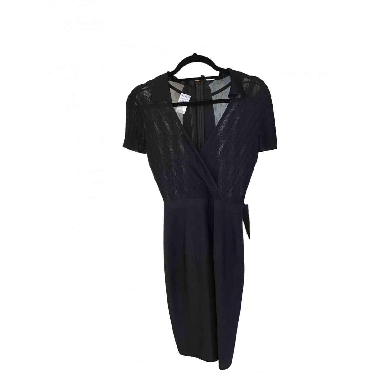 Herve Leger \N Kleid in  Schwarz Baumwolle - Elasthan