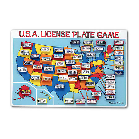 Melissa & Doug U.S.A. License Plate Game, One Size , Multiple Colors