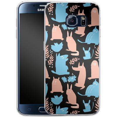 Samsung Galaxy S6 Silikon Handyhuelle - Nighttime von Jenna Kunnas