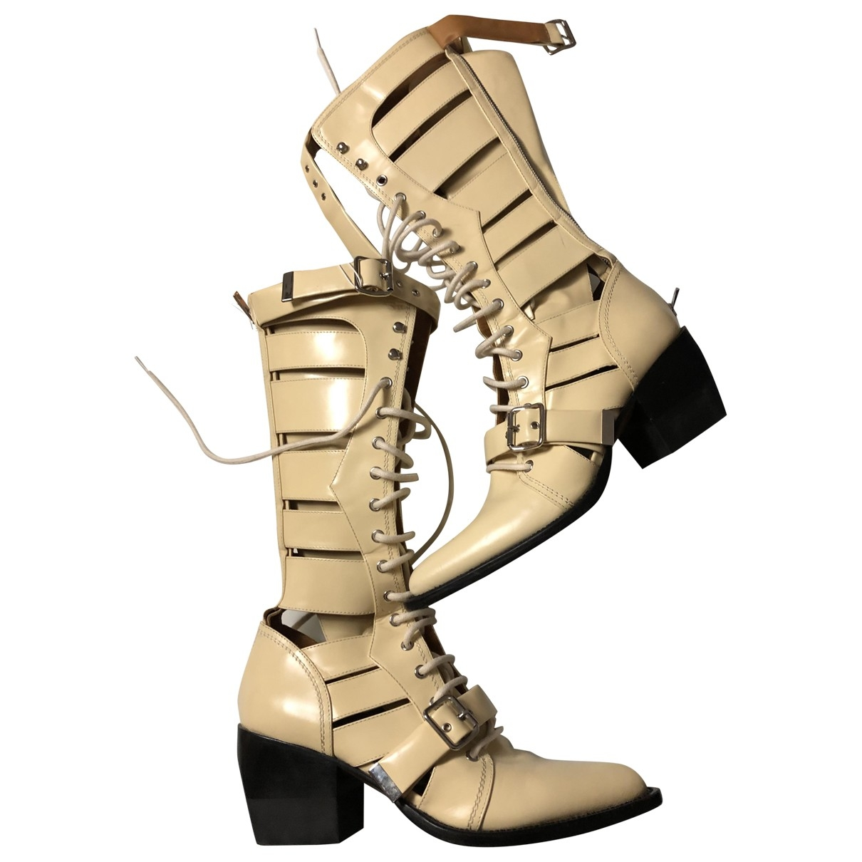 Chloé \N Beige Leather Boots for Women 41 EU