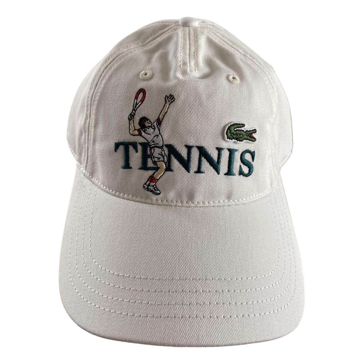 Lacoste - Chapeau & Bonnets   pour homme en coton - blanc