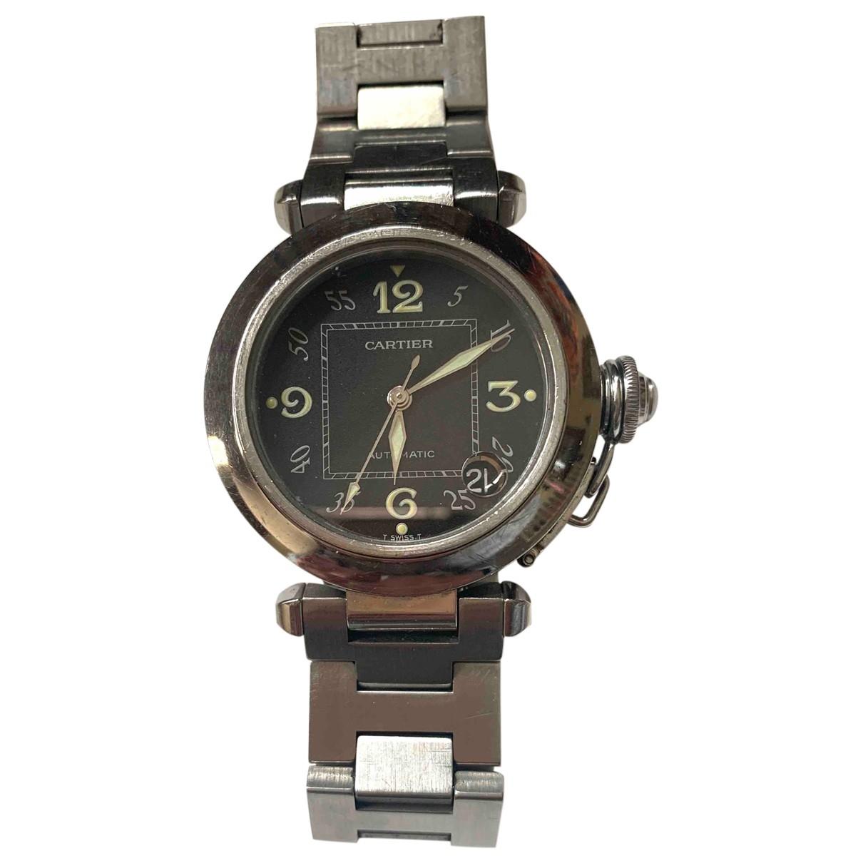 Cartier Pasha Black Steel watch for Women \N