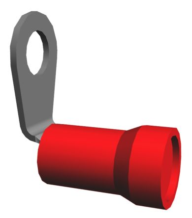 TE Connectivity , PLASTI-GRIP Insulated Crimp Ring Terminal, #10 Stud Size, 6.6mm² to 10.5mm² Wire Size, Red