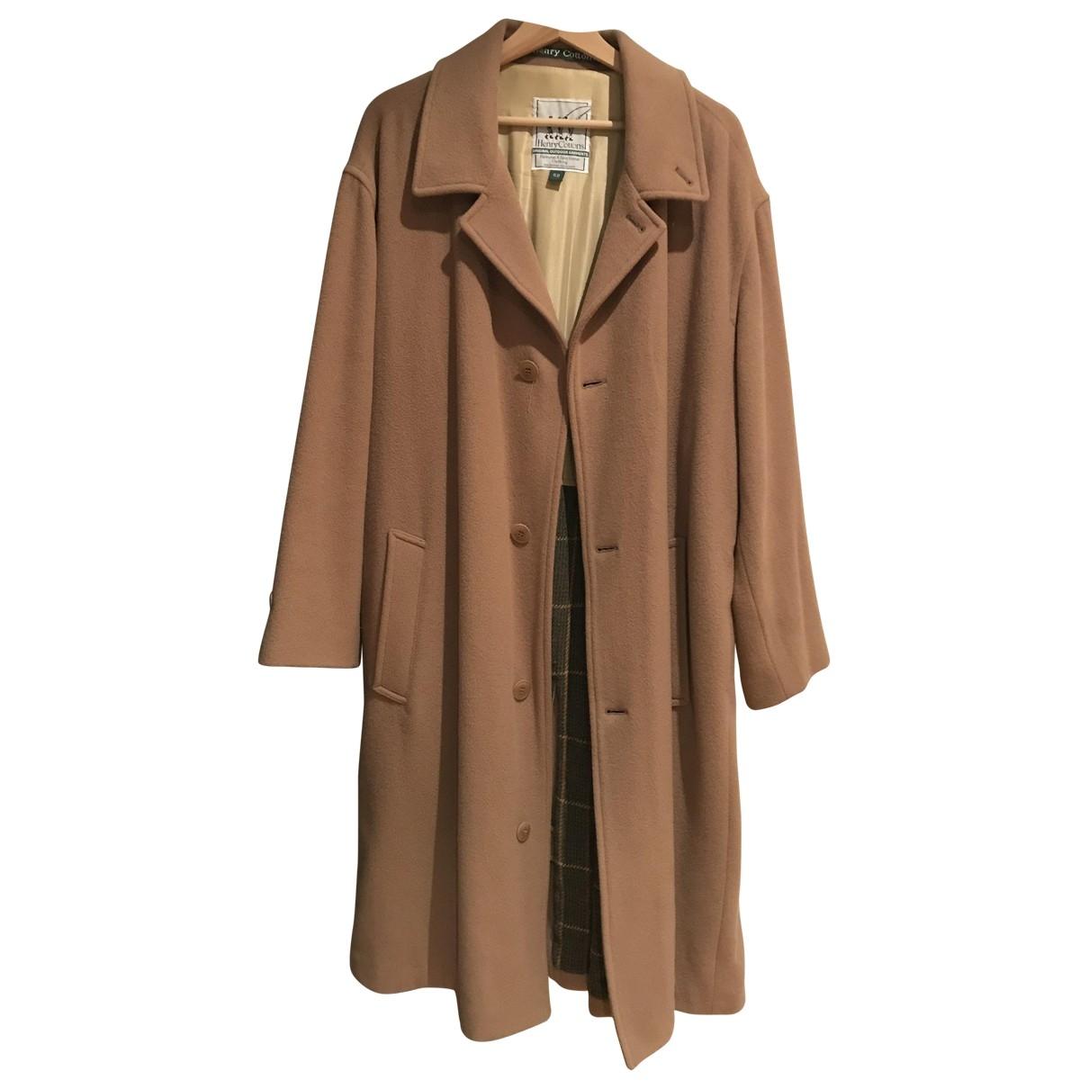 Henry Cotton - Manteau   pour homme en laine - camel