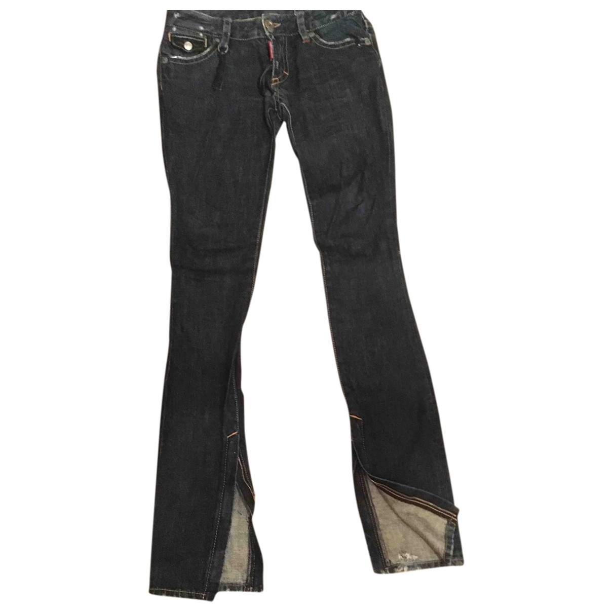 Dsquared2 \N Blue Denim - Jeans Jeans for Women 40 FR