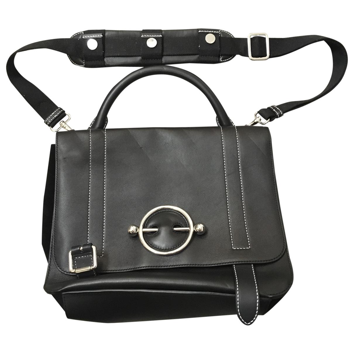 J.w. Anderson Disc Black Leather handbag for Women \N