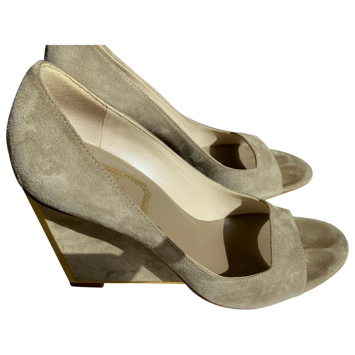 Dior - Escarpins   pour femme en suede - beige