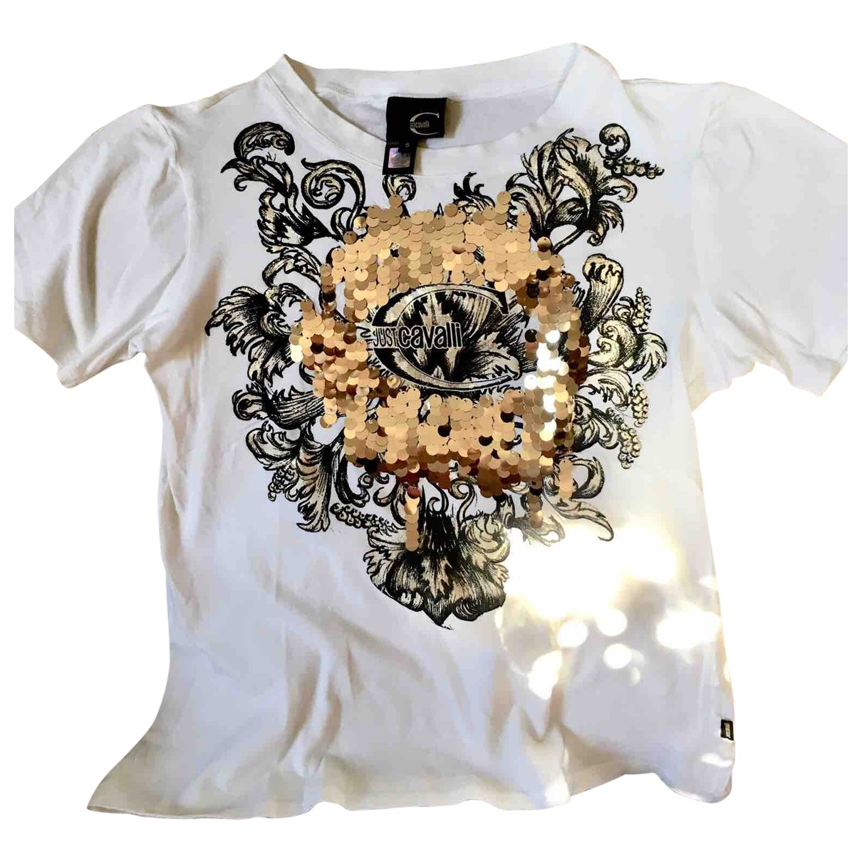 Just Cavalli - Top   pour femme en coton - blanc