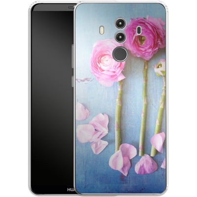 Huawei Mate 10 Pro Silikon Handyhuelle - Cottage Flowers von Joy StClaire