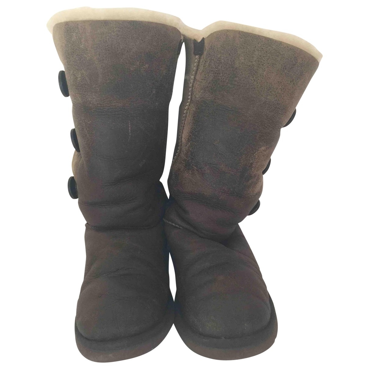 Ugg \N Brown Leather Boots for Women 40 EU