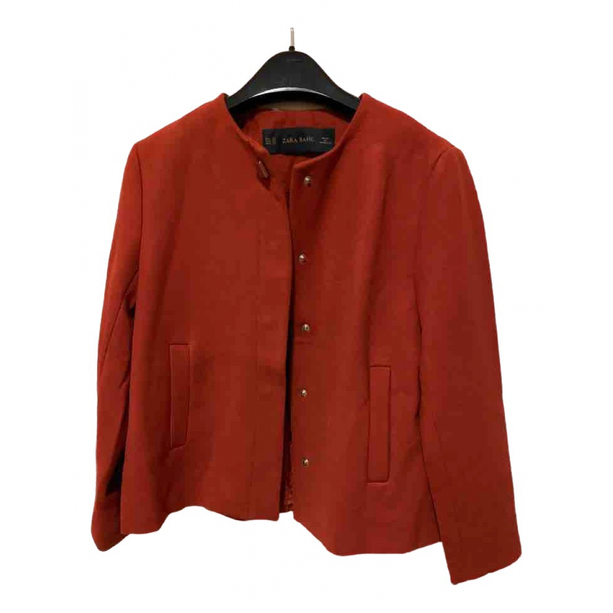 Zara \N Jacke in  Rot Synthetik