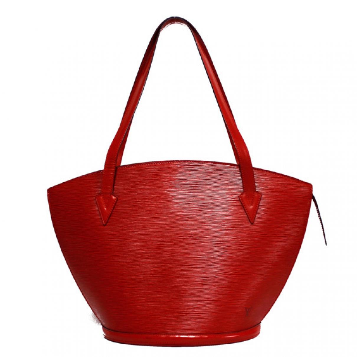 Louis Vuitton - Sac a main Saint Jacques pour femme en toile - rouge