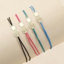 4pcs Pineapple Decor Bracelet