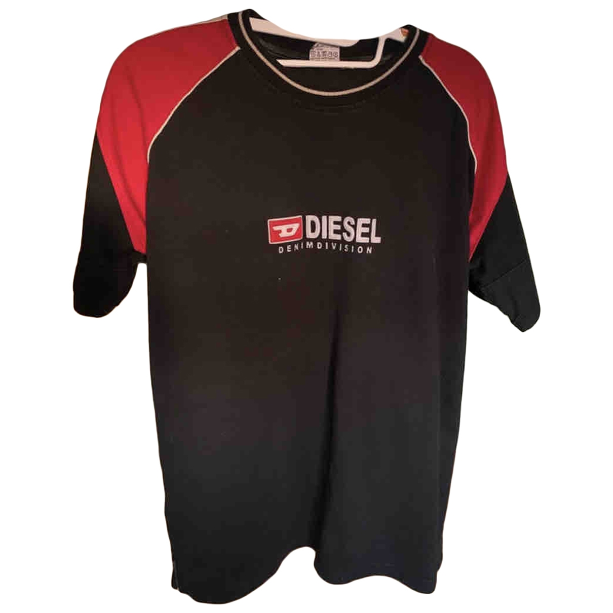 Diesel - Tee shirts   pour homme en coton - noir