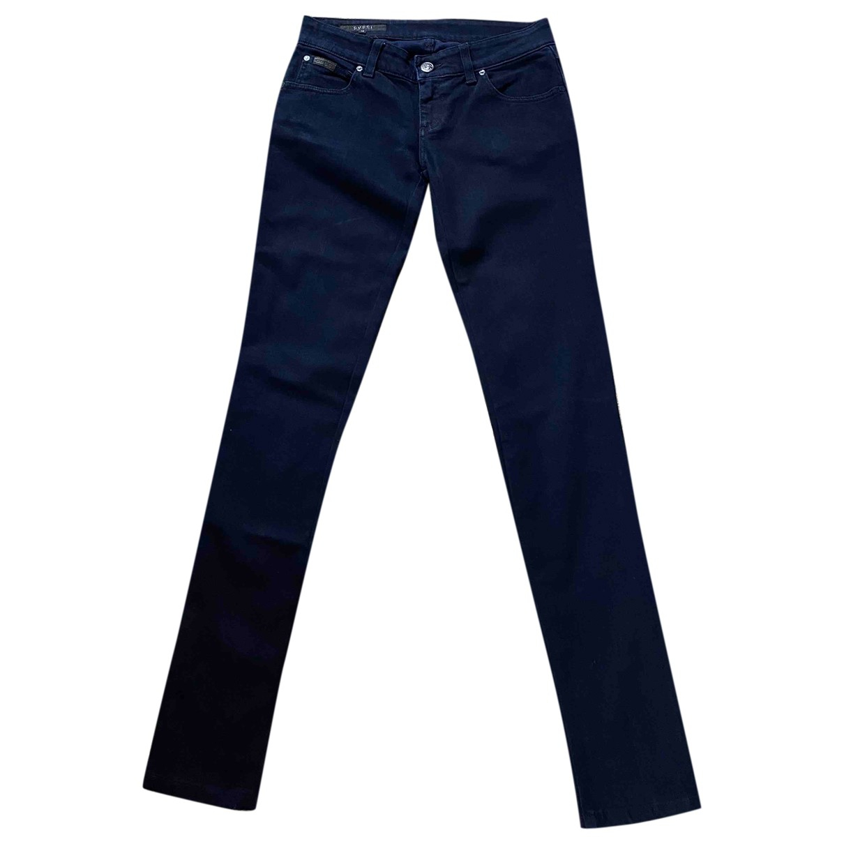 Gucci \N Navy Cotton - elasthane Jeans for Women 34 FR