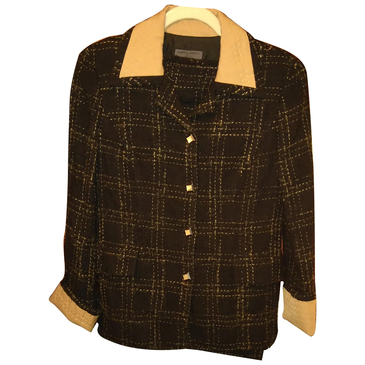 Alberta Ferretti \N Black Wool skirt for Women 44 IT