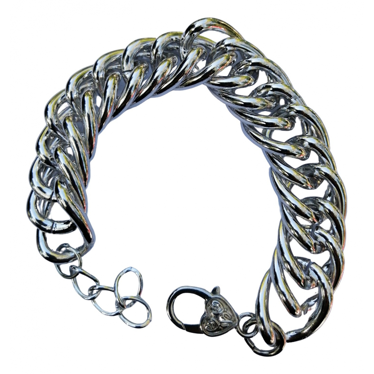 Non Signe / Unsigned Gourmette Armband in  Silber Ketten