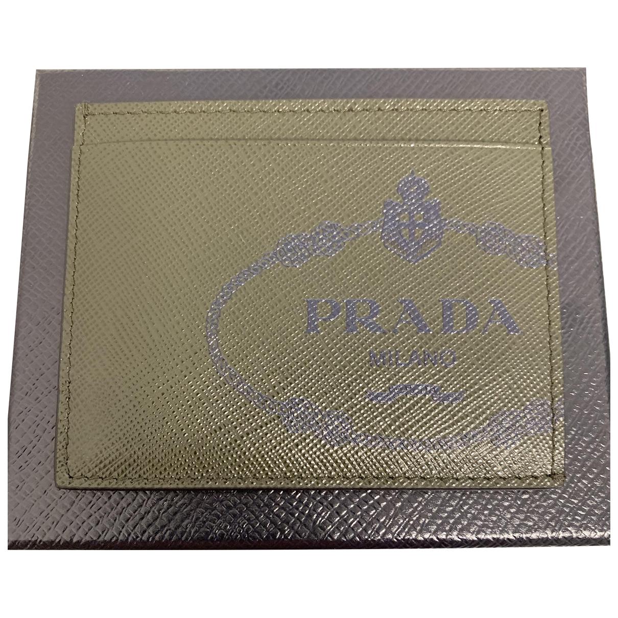 Prada - Petite maroquinerie   pour homme en cuir - vert