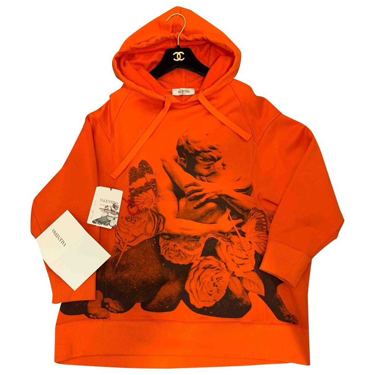 Valentino Garavani - Pull   pour femme en coton - orange