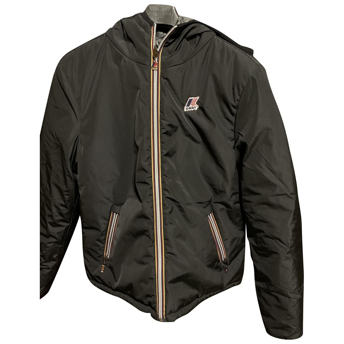 K-way \N Blue Cotton Trench coat for Women 42 IT