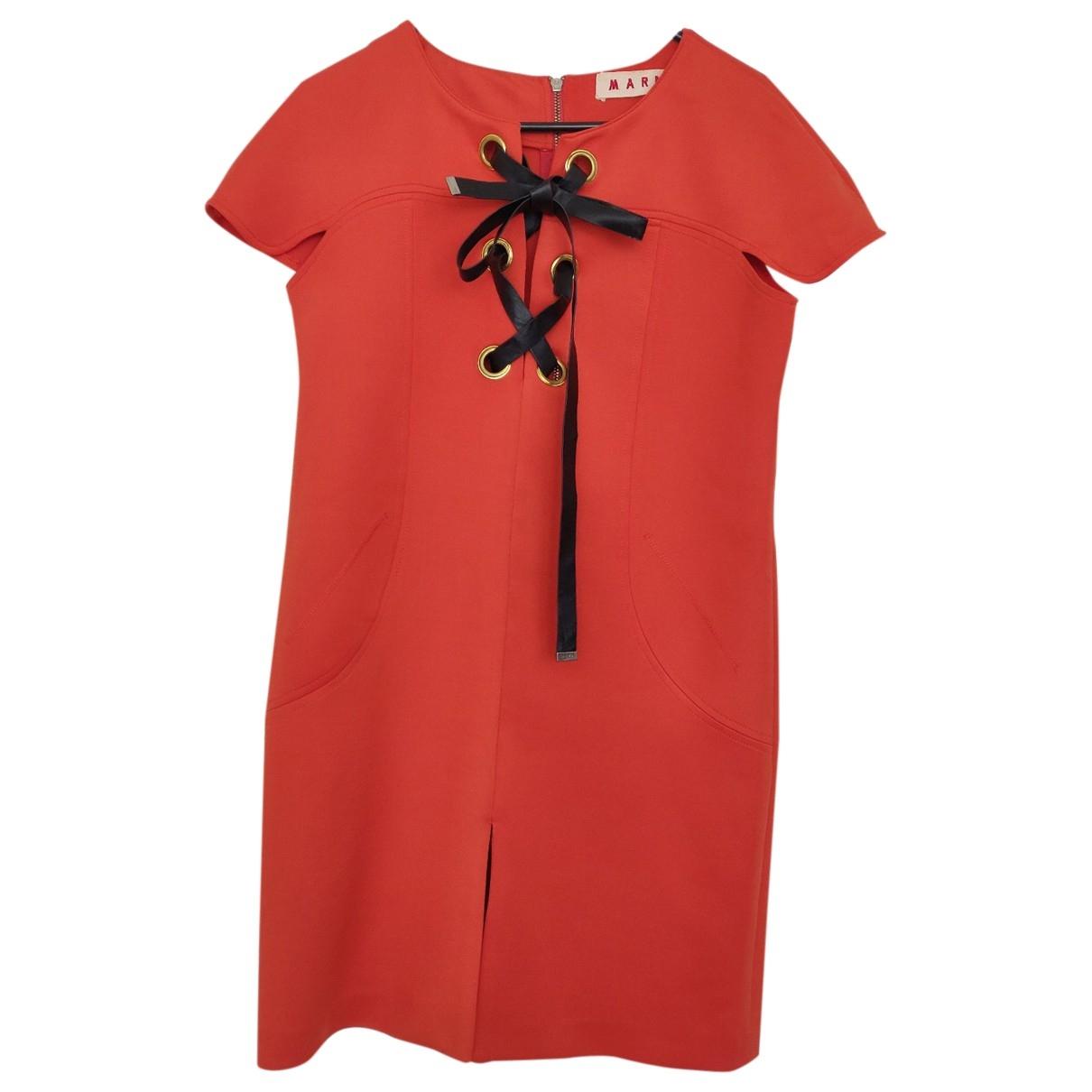 Marni \N Kleid in  Orange Polyester