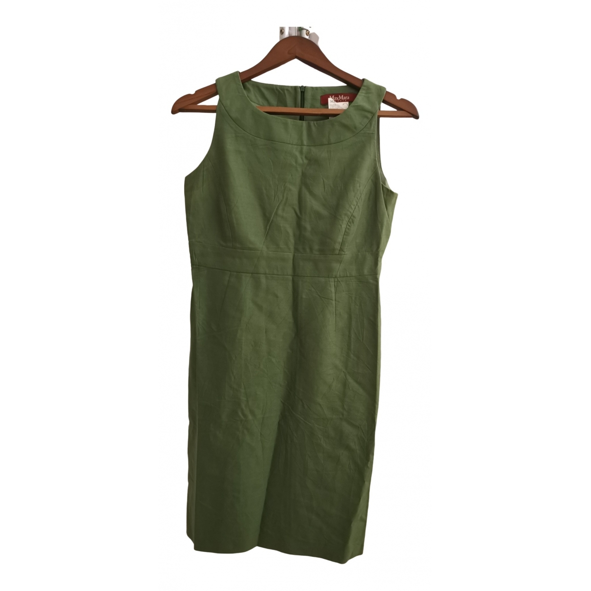 Max Mara Studio \N Green Cotton dress for Women 38 FR