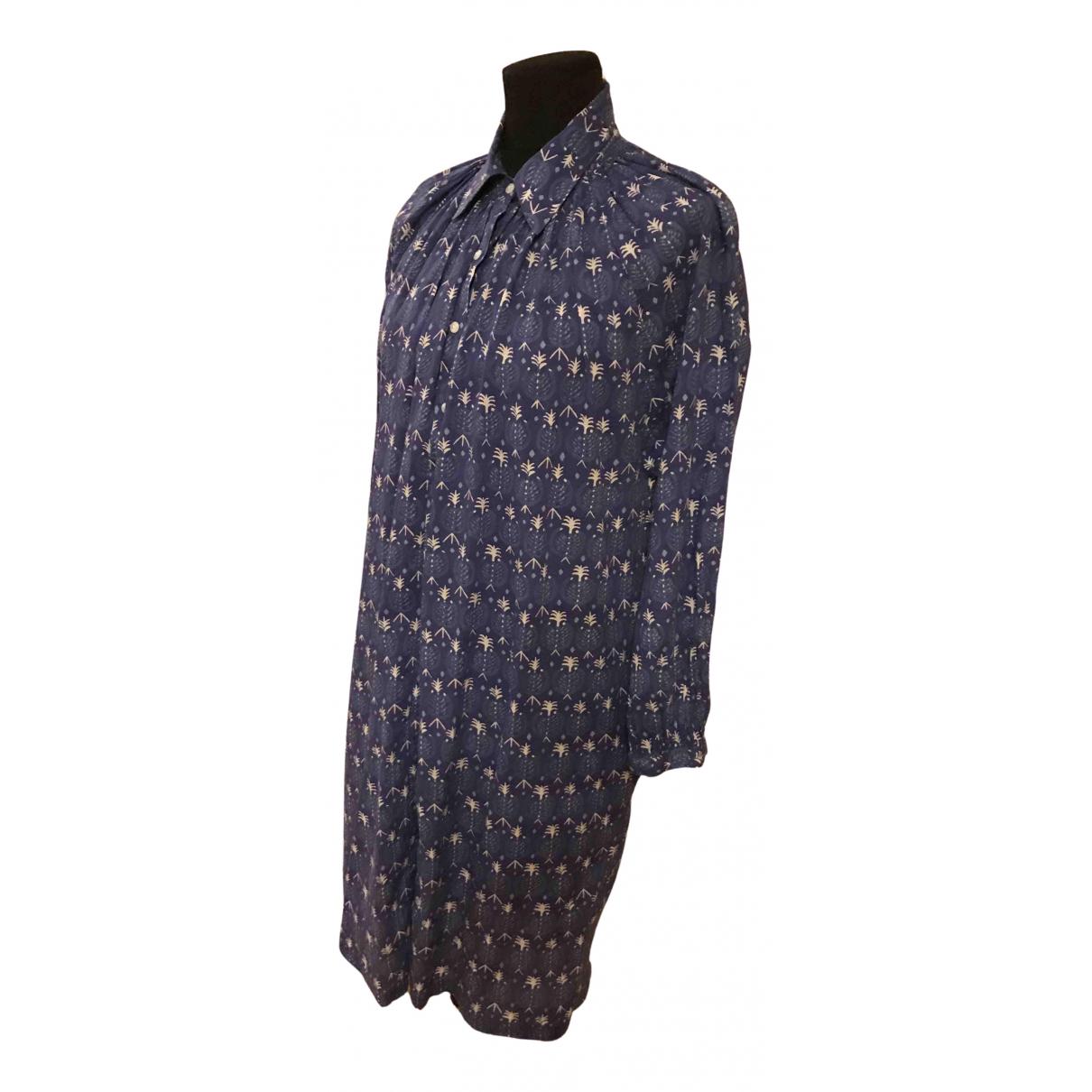 Fragonard \N Kleid in  Blau Baumwolle
