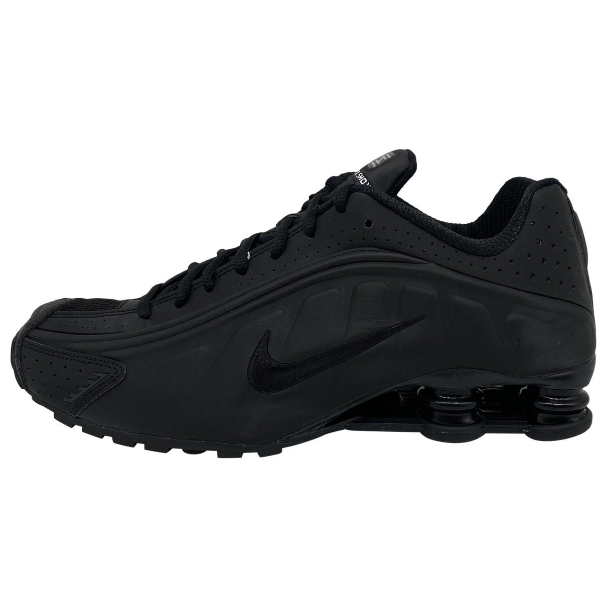 Nike - Baskets Shox pour homme en cuir - noir