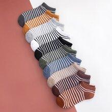 10pairs Striped Pattern Socks