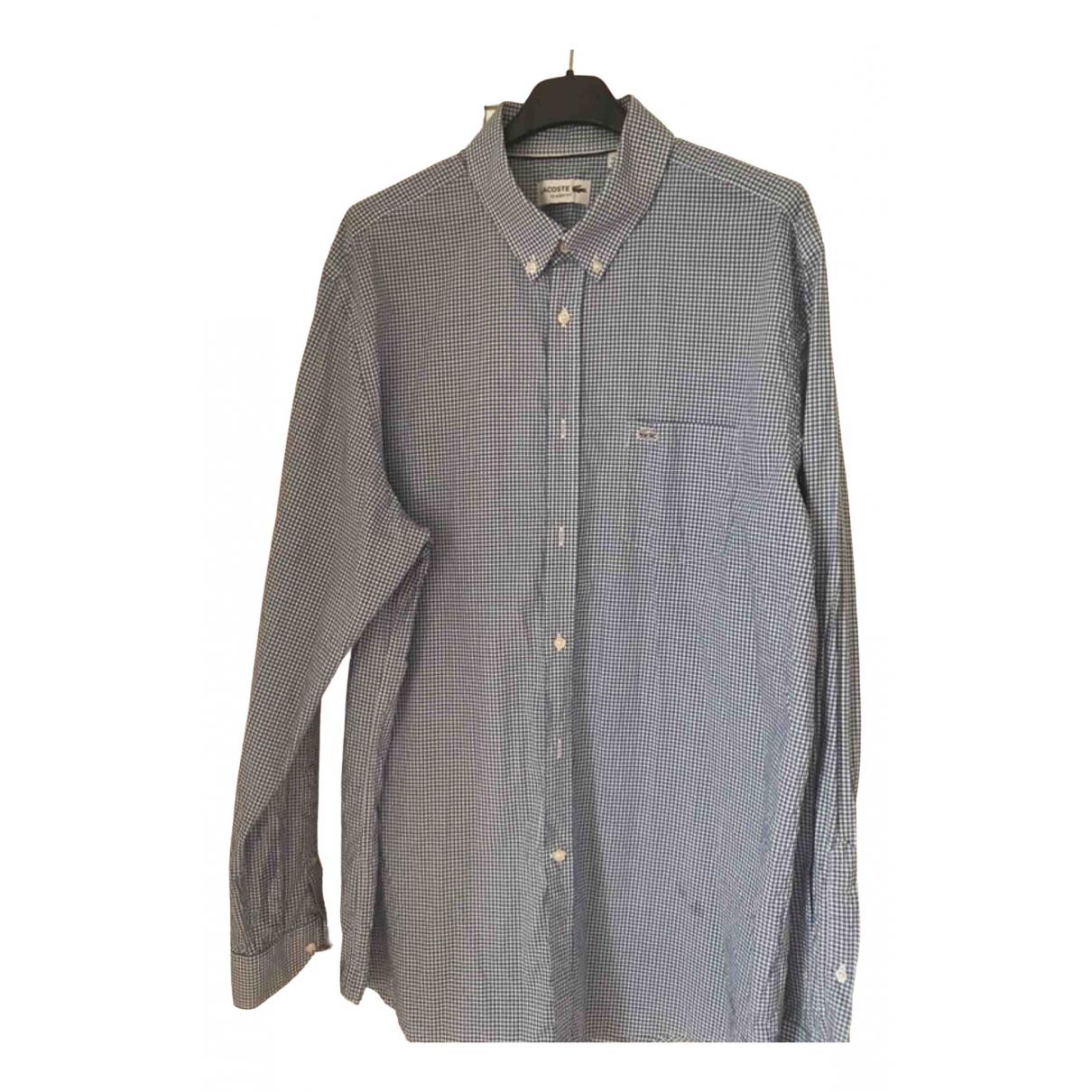 Lacoste \N Blue Cotton Shirts for Men 42 EU (tour de cou / collar)