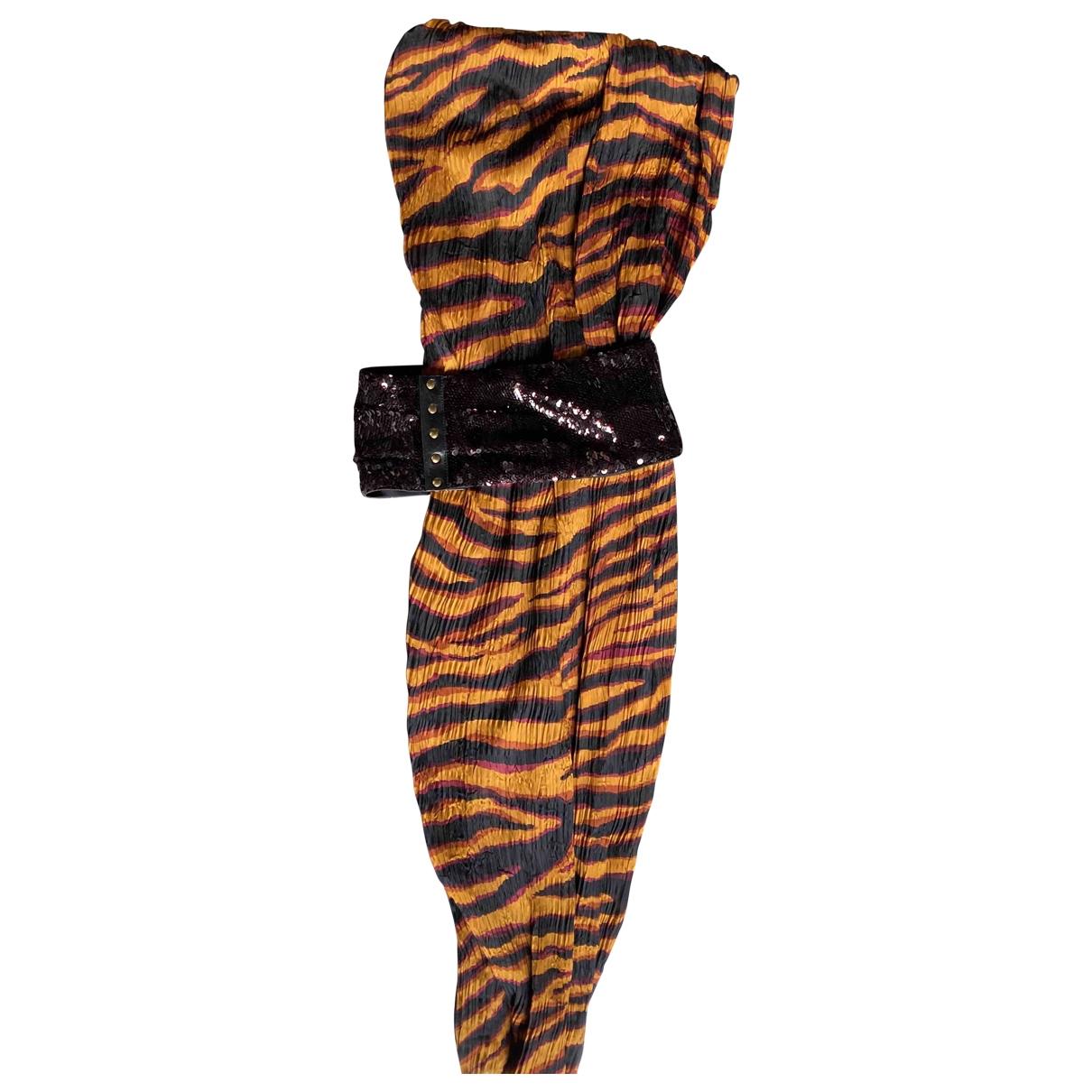 Louis Vuitton - Robe   pour femme en soie - orange