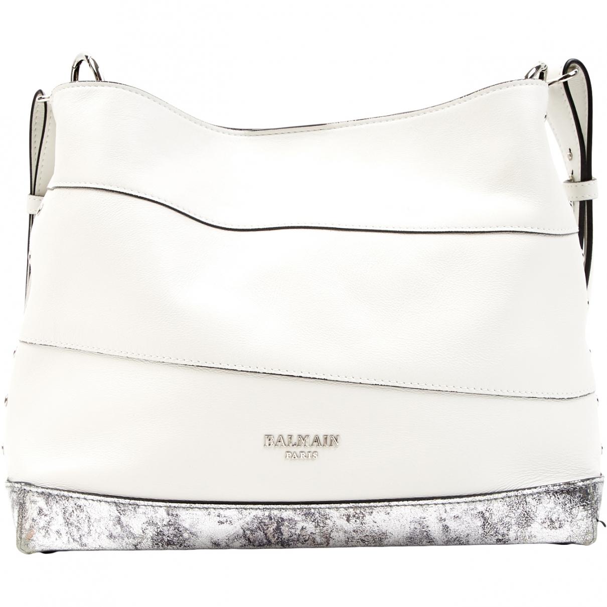 Balmain \N White Leather handbag for Women \N