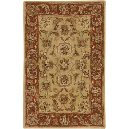 A111-23 2' x 3' Rectangular Ancient Treasures Ink Handmade Area Rug Made with 100% Semi-Worsted New Zealand Wool and Made in
