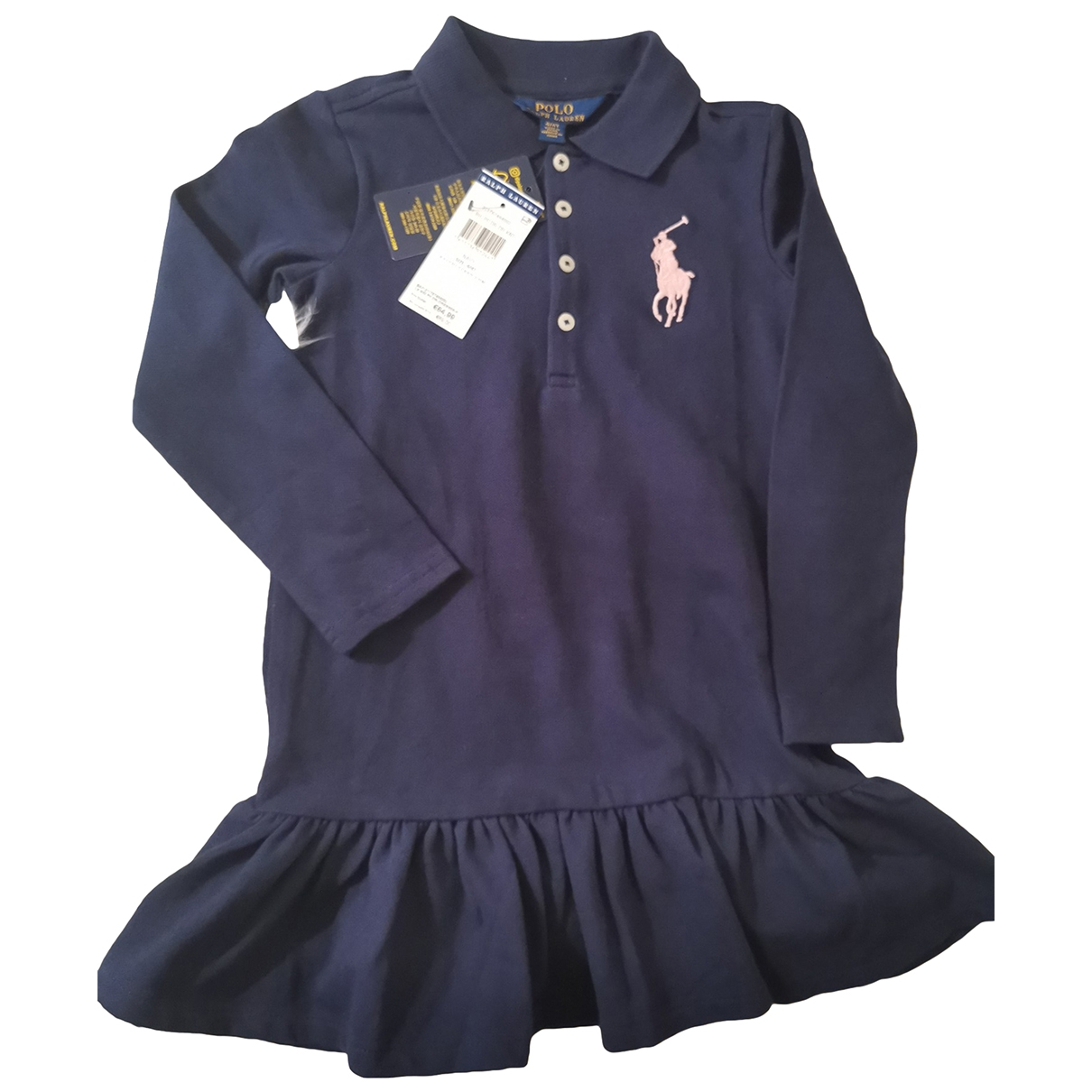 Polo Ralph Lauren \N Navy Cotton dress for Kids 5 years - up to 108cm FR