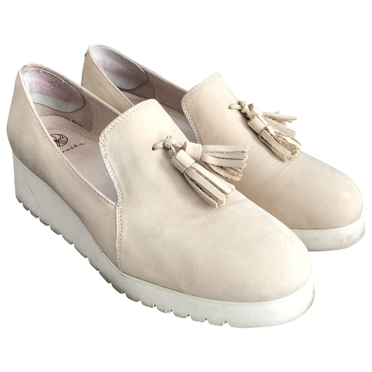 Non Signe / Unsigned \N Sneakers in  Beige Leder
