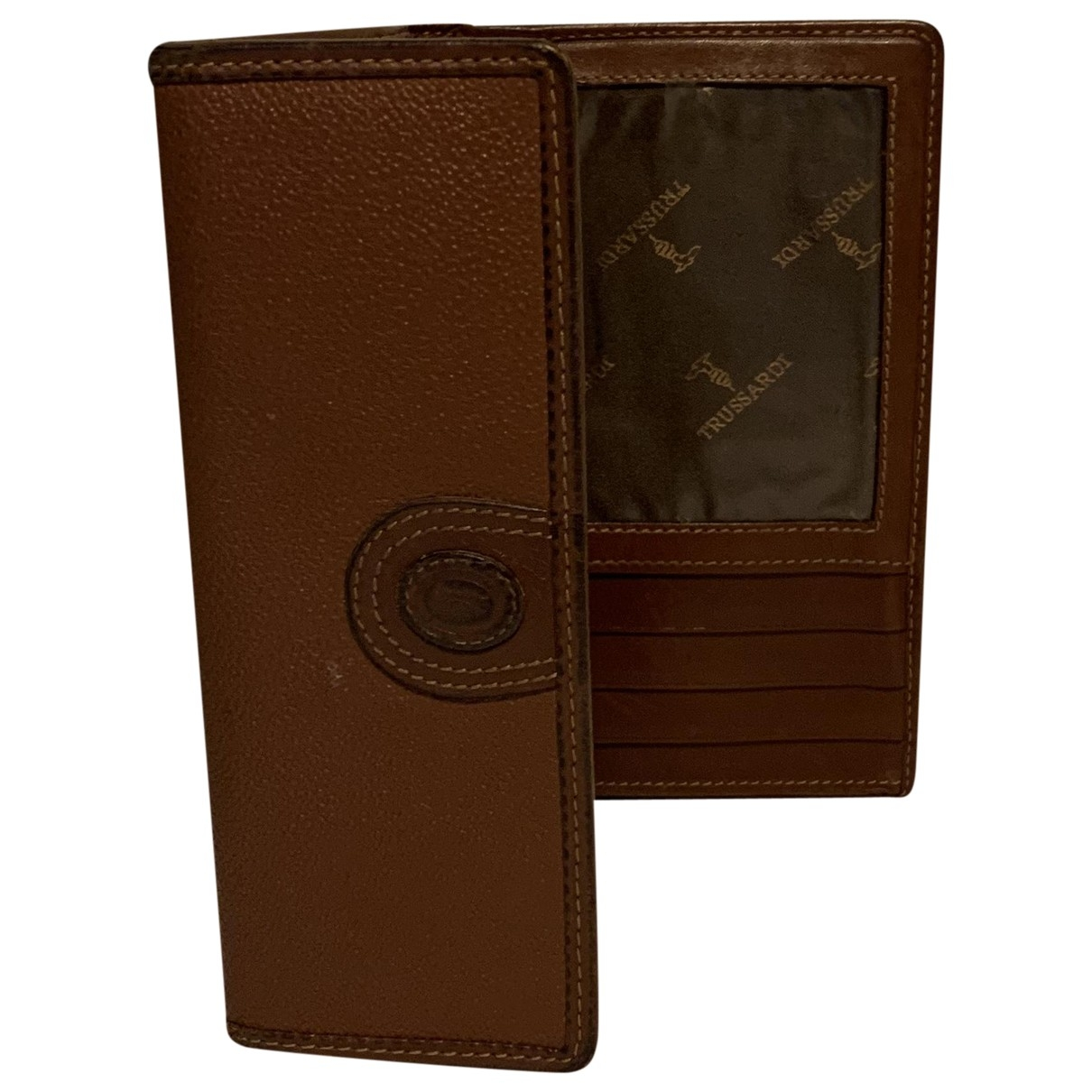Trussardi \N Brown Leather wallet for Women \N