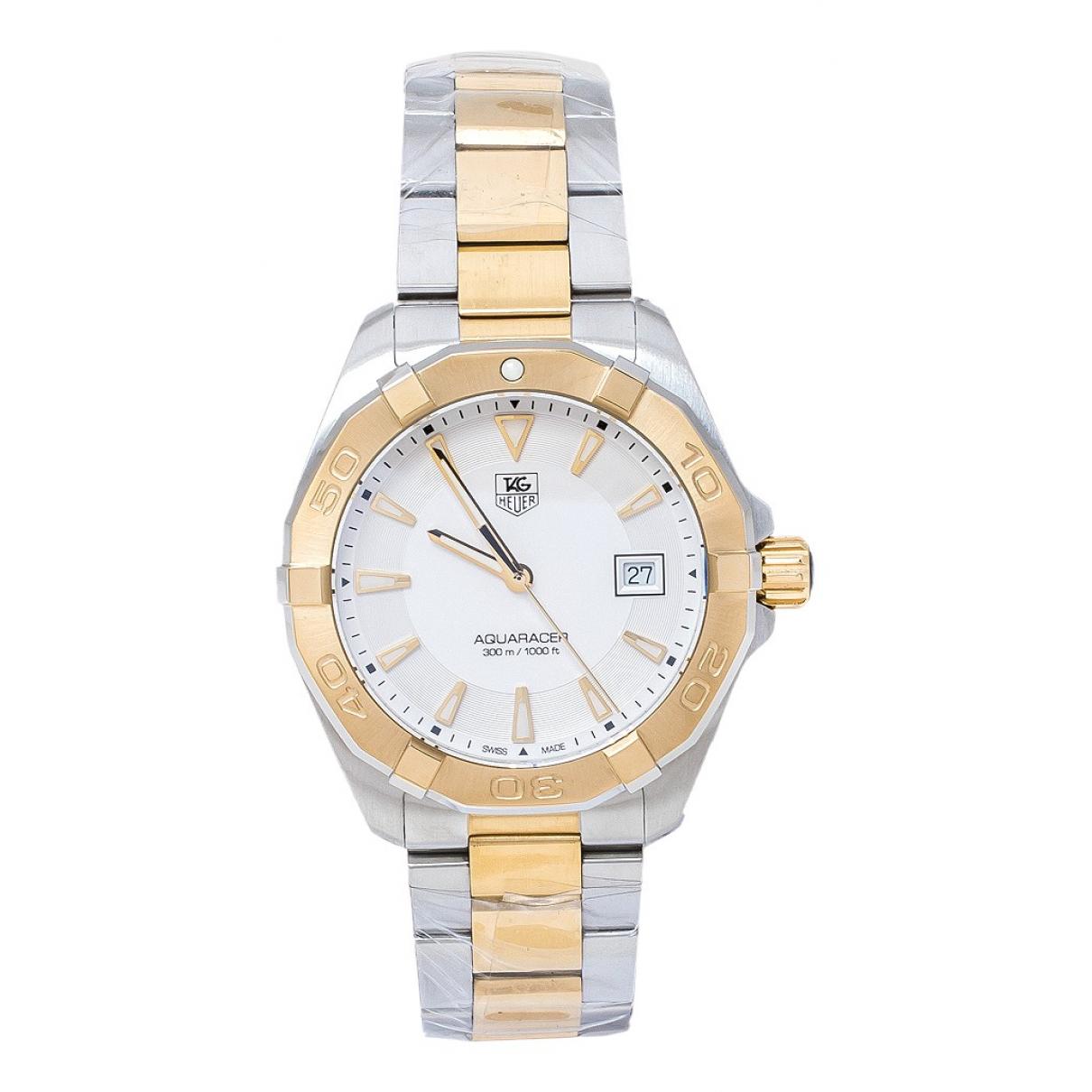 Tag Heuer Aquaracer  Uhr in  Silber Gold und Stahl