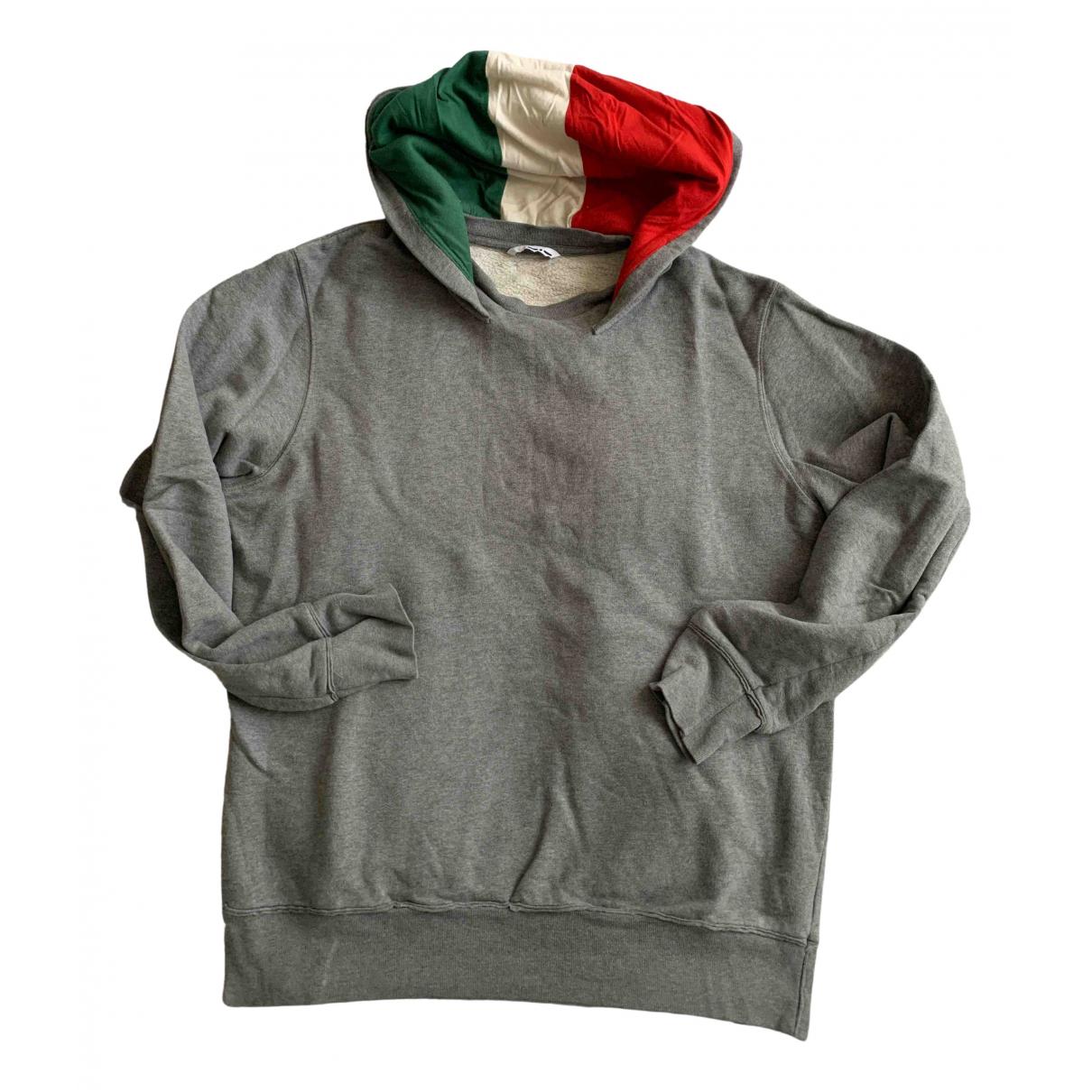 Italia Independent N Grey Cotton Knitwear & Sweatshirts for Men XL International