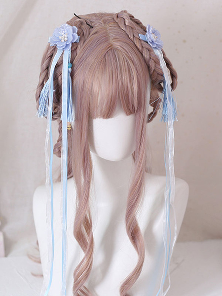 Milanoo Chinese Style Lolita Headdress Flowers Tassel Headwear Han Lolita Accessories