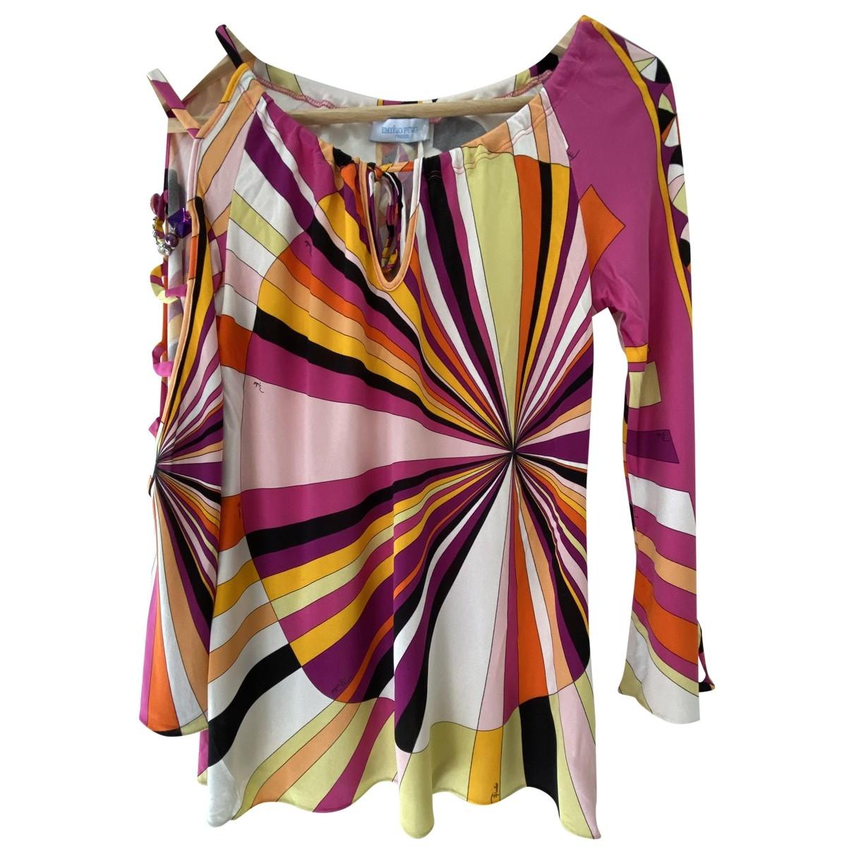 Emilio Pucci \N Multicolour Silk  top for Women 10 UK