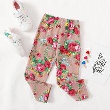 Leggings de niñitas Floral Casual